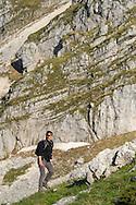 Violeta Giurgi, Rewilding Europe. Hiker in the Central Apennines rewilding area, Italy, in and around the Abruzzo, Lazio e Molise National Park.