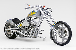 """""""Silver Streak,"""" by Arlen Ness. Everything on this bike came out of the Ness catalog. Appears in the book """"The King of Choppers,"""" by Michael Lichter."""
