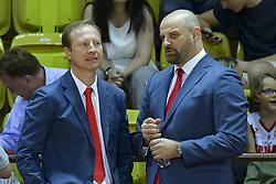 June 24, 2018 - Monaco, France - Sergei Dyadechko (president de Monaco Basket) - Zvezdan Mitrovic  (Credit Image: © Panoramic via ZUMA Press)