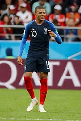 France's Kylian Mbappe joy after scoring the 1-0 goal during the 2018 FIFA World Cup Russia game, France vs Peru in Ekatarinenburg Stadium, Ekatarinenburg, Russia on June 21, 2018. France won 1-0. Photo by Henri Szwarc/ABACAPRESS.COM
