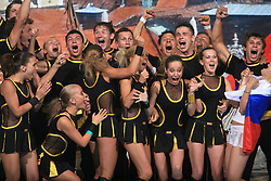 2nd place in category Cheer Mixed - Senior for Fenomen, Russia during final ceremony at second day of European Cheerleading Championship 2008, on July 6, 2008, in Arena Tivoli, Ljubljana, Slovenia. (Photo by Vid Ponikvar / Sportal Images).