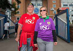 Bristol City fans outside Hillsborough stadium - Mandatory byline: Dougie Allward/JMP - 07966386802 - 08/08/2015 - FOOTBALL - Hillsborough Stadium -Sheffield,England - Sheffield Wednesday v Bristol City - Sky Bet Championship