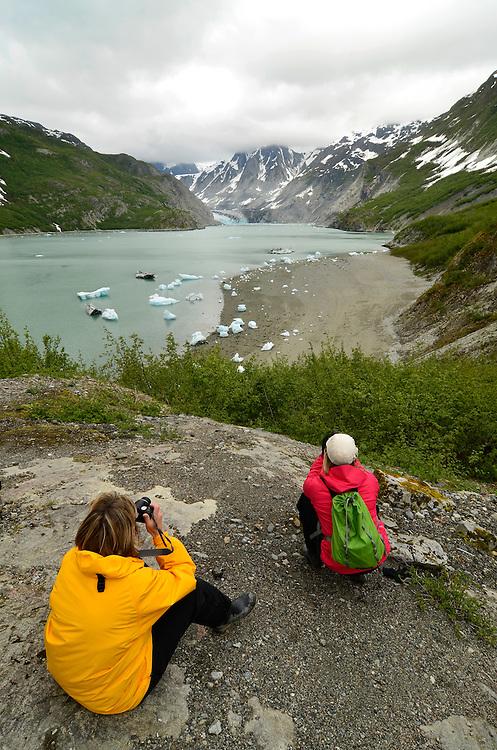 Photographing the McBride Glacier in Glacier Bay National Park, Alaska.