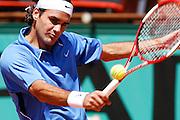 Roland Garros. Paris, France. June 9th 2006..Roger Federer against David Nalbandian during the semi finals.