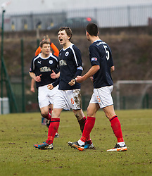 Falkirk's Blair Alston cele at the end..Hamilton 1 v 2 Falkirk, Scottish Cup quarter-final, Saturday, 2nd March 2013..©Michael Schofield.