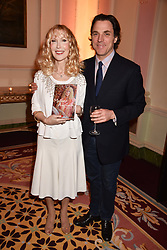 Basia Briggs and Sacha Newley at a reception to celebrate the publication on 'Mother Anguish' by Basia Briggs held in The Music Room, The Ritz Hotel, 150 Piccadilly, London, England. 04 December 2017.
