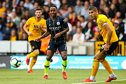 Raheem Sterling of Manchester City passes the ball - Mandatory by-line: Robbie Stephenson/JMP - 25/08/2018 - FOOTBALL - Molineux - Wolverhampton, England - Wolverhampton Wanderers v Manchester City - Premier League