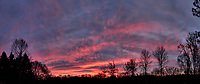 Colorful Autumn Sky at Dawn. Backyard Nature in New Jersey. Composite of three images taken with a Fuji X-T1 camera and 16 mm f/1.4 lens (ISO 200, 16 mm, f/2.8, 1/60 sec)