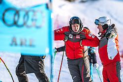 06.02.2019, Aare, SWE, FIS Weltmeisterschaften Ski Alpin, SuperG, Herren, Streckenbesichtigung, im Bild v.l.:Matthias Mayer (AUT), Andreas Puelacher (Sportlicher Leiter ÖSV Ski Alpin Herren) // f.l.: Matthias Mayer of Austria Andreas Puelacher Austrian Ski Association head Coach alpine Men's during the course inspection for the men's Super-G of FIS ski alpine world cup in Aare, Sweden on 2019/02/06. EXPA Pictures © 2019, PhotoCredit: EXPA/ Dominik Angerer