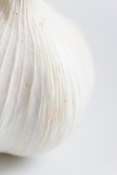 Extreme close up of a garlic bulb