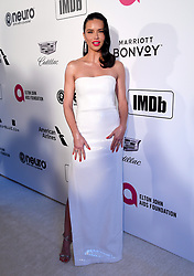 Adriana Lima attending the Elton John AIDS Foundation Viewing Party held at West Hollywood Park, Los Angeles, California, USA.