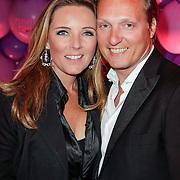 NLD/Amsterdam/20120330 - Emma Raising Fund Night, David Bijlsma en partner Ghitta