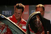 Betim_MG, Brasil...Michael Schumacher em passagem pelo Brasil...Michael Schumacher passing through in Brazil...Foto: LEO DRUMOND / NITRO