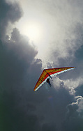 Hang glider against storm clouds. Larger JPEGS and TIFFs available. Contact us via  www.photograhy4business.com