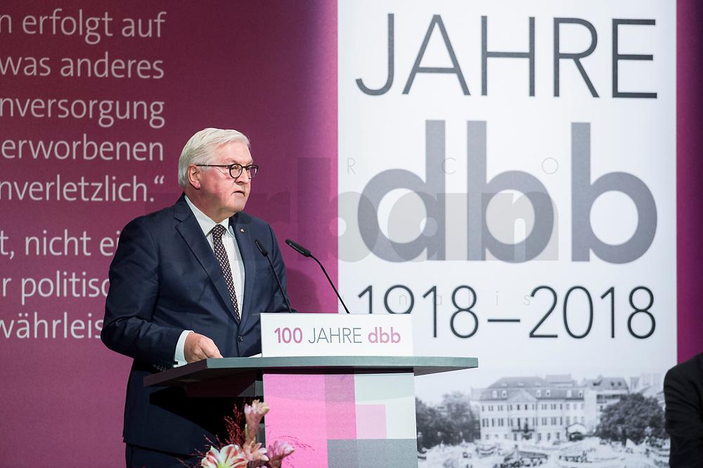 29 NOV 2018, BERLIN/GERMANY:<br /> Festakt mit Bundespraesident Steinmeier anl. des 100. Gruendungsjubilaeums des Beamtenbunds, dbb forum berlin<br /> IMAGE: 20181129-01-144<br /> KEYWORDS;´: Gründung, Jubiläum,