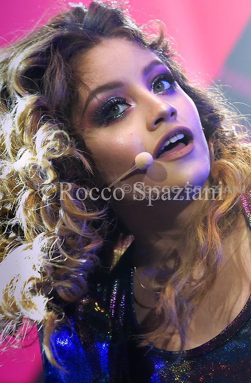 Karol Sevillia Performs on stage during Disney Show Soy Luna at Palalotomatica on January 27, 2018 in Rome, Italy