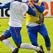 AUS/Seefeld/20100530 - Training NL Elftal WK 2010, Eljero Elia in duel met Khalid Boularouz