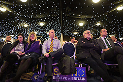 "© Licensed to London News Pictures . 30/11/2015 . Leeds , UK . The audience listens as Nigel Farage addresses a "" Say No to the EU "" event at the Leeds United's ground at Elland Road . Photo credit: Joel Goodman/LNP"