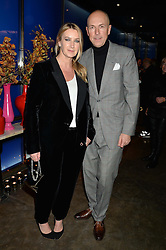 ANYA HINDMARCH and DYLAN JONES at a dinner hosted by Anya Hindmarch and Dylan Jones to celebrate the end London Collections: Men 2014 held at Hakkasan, 8 Hanway Place, London on 8th January 2014.