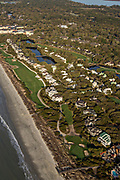 Aerial view of the Turtle Point Golf Course on Kiawah Island, South Carolina.