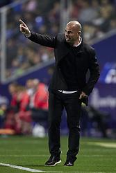 April 19, 2018 - Valencia, Valencia, Spain - Paco Lopez head coach of Levante UD reacts during the La Liga game between Levante UD and Malaga CF at Ciutat de Valencia on April 19, 2018 in Valencia, Spain  (Credit Image: © David Aliaga/NurPhoto via ZUMA Press)