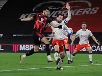 vFootball - 2020 /2021 Sky Bet Championship - AFC Bournemouth vs Luton Town - Vitality Stadium<br /> <br /> Dominic Solanke of Bournemouth is foiled by Sonny Bradley of Luton<br /> <br /> COLORSPORT/ANDREW COWIE