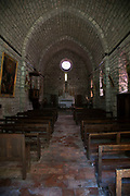 Interior of the church in Termes, France. Termes is a commune in the Aude department in southern France.