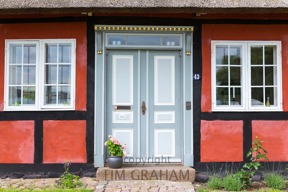Quaint door on Tasinge Island off Svendborg, part of South Funen Archipelago, Denmark