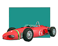 This is the kind of car that brings to mind the history of racing cars. This Italian classic features one of the most iconic designs ever used to create a vehicle. That design and attention to detail are brought to brilliant life through digital painting. You are going to love the way this piece looks in your home or office. .<br />