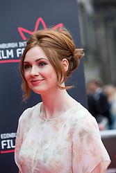 "Karen Gillan. Opening Night Gala and World Premiere of ""The Legend of Barney Thompson"", Edinburgh International Film Festival 17 - 28 June 2015."