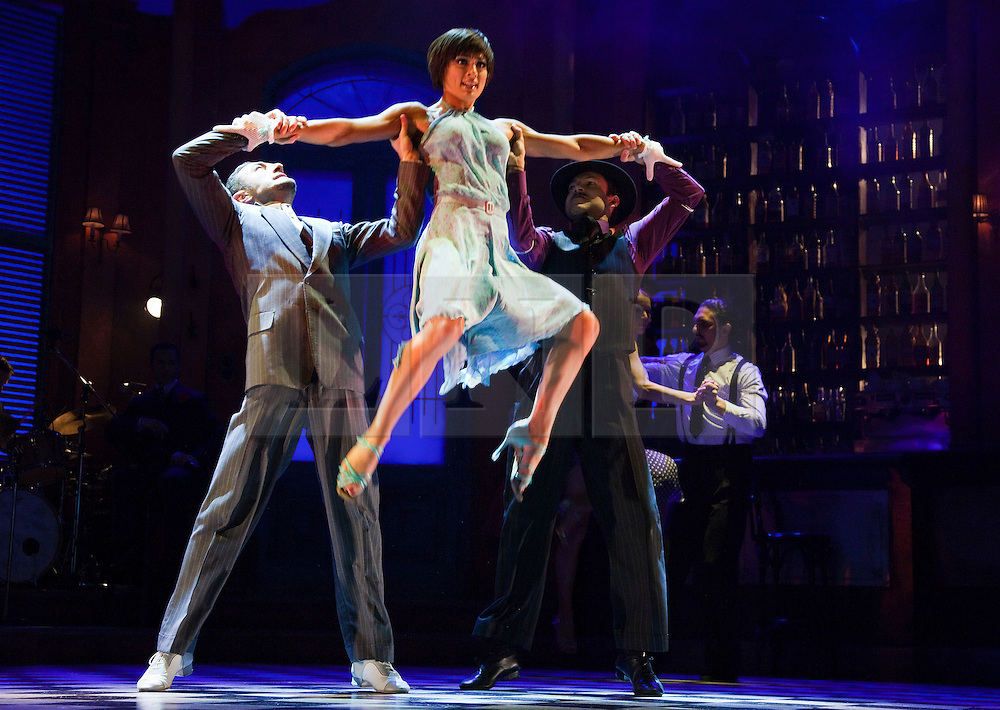 """© Licensed to London News Pictures. 30/01/2012. London, England. L-R: Vincent Simone, Flavia Cacace and Giraldo Diomar. """"Midnight Tango"""" with """"Strictly Come Dancing"""" Stars Flavia Cacace and Vincent Simone opens at the Aldwych Theatre, London. Photo credit: Bettina Strenske/LNP"""
