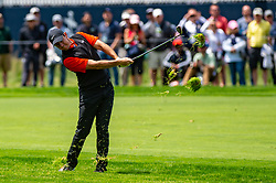 May 16, 2019 - Farmingdale, NY, U.S. - FARMINGDALE, NY - MAY 16: Rory McIlroy of Northern Ireland plays his shot from the fairway on the first hole during Round One of the PGA Championship Tournament on May 16, 2019, at Bethpage State Park in Farmingdale, NY (Photo by John Jones/Icon Sportswire) (Credit Image: © John Jones/Icon SMI via ZUMA Press)