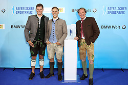 13.07.2019, BMW Welt, Muenchen, GER, Bayerischer Sportpreis Verleihung, im Bild Thomas Dreßen, Josef Ferstl und Markus Wasmeier // during the Bavarian Sports Award at the BMW Welt in Muenchen, Germany on 2019/07/13. EXPA Pictures © 2019, PhotoCredit: EXPA/ SM<br /> <br /> *****ATTENTION - OUT of GER*****