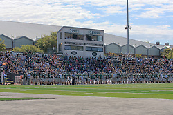 17 September 2011:  Tucci Stadium and Wilder Field during an NCAA Division 3 football game between the Aurora Spartans and the Illinois Wesleyan Titans on Wilder Field inside Tucci Stadium in.Bloomington Illinois. This image is a High Dynamic Range image (HDR).  It may or may not recreate the scene in a proper or historic manner.  If used editorially it should be captioned as an illustration.