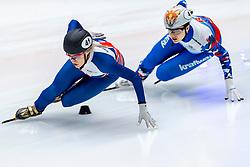13-01-2019 NED: ISU European Short Track Championships 2019 day 3, Dordrecht<br /> Elise Christie #41 GBR, Sofia Prosvirnova #4 RUS