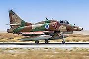 Israeli Air Force (IAF) Mcdonnell-Douglas A-4 Skyhawk (Ayit) fighter jet