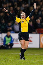 Referee Claire Hodnett - Mandatory byline: Rogan Thomson/JMP - 28/12/2015 - RUGBY UNION - The Recreation Ground - Bath, England - Bath United v Bristol United - Aviva A League.