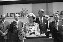 File photo dated 08/08/88 of Queen Elizabeth II and the Duke of Edinburgh at Port Sunlight in Wirral, opening the £12m Lever Brothers soap-making plant. The Royal couple will celebrate their platinum wedding anniversary on November 20.