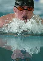 Svømming - NM i langbane Piranlegget Trondheim 6. juli 2002. Handicaputøver Rune Ulvang fra Tromsø satte to verdensrekorder på 50 meter bryst lørdag.<br /> <br /> Foto: Andreas Fadum, Digitalsport