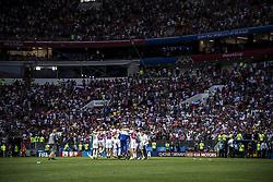 July 1, 2018 - Moscow, Russia - FIFA World Cup 2018. Russia defeated Spain. Ryska laget firar efter segern mot Spanien. Fotbolls-VM, match 51, Spanien - Ryssland, Luzhniki stadium, Moscow, Russia  (Credit Image: © Orre Pontus/Aftonbladet/IBL via ZUMA Wire)