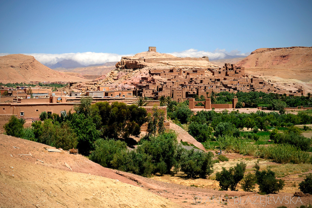 Morocco. Landscape of Ait Benhaddou.