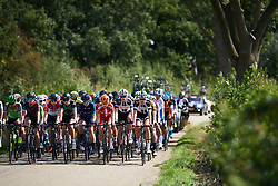 Amalie Dideriksen (DEN) on the front of the peloton at Boels Ladies Tour 2018 - Stage 3, a 129km road race in Gennep, Netherlands on August 30, 2018. Photo by Sean Robinson/velofocus.com