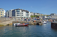 Portstewart, Co Londonderry, N Ireland, UK - Promenade photographed from the Harbour. 201406213188<br />