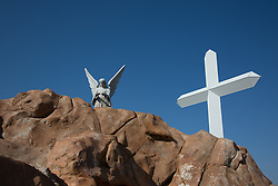 large cross and angel in Texas on Route 66