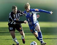 Fotball<br /> La Manga 2006<br /> Tromsø v KR Reykjavik 1-0<br /> 13.02.2006<br /> Foto: Morten Olsen, Digitalsport<br /> <br /> Ruben Jensen - TIL<br /> Gunnar Einarsson - KR