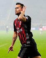 Esultanza gol di Suso Milan 2-1. Celebration goal<br /> Milano 20-11-2016 Stadio Giuseppe Meazza - Football Calcio Serie A Milan - Inter Foto Giuseppe Celeste / Insidefoto