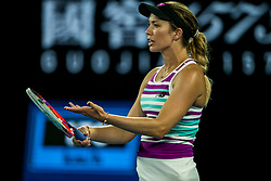 January 24, 2019 - Melbourne, VIC, U.S. - MELBOURNE, AUSTRALIA - JANUARY 24 : Danielle Collins of ÊUnited States shows her frustration during the semifinals on day 11 of the Australian Open on January 24 2019, at Melbourne Park in Melbourne, Australia.(Photo by Jason Heidrich/Icon Sportswire) (Credit Image: © Jason Heidrich/Icon SMI via ZUMA Press)
