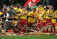 Photo: Rich Eaton.<br /> <br /> Leeds United v Watford. Coca Cola Championship. Play off Final. 21/05/2006.<br /> <br /> Watford players celebrate after promotion to the Premiership