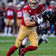 Dec 15 2019  Santa Clara, CA  U.S.A   San Francisco 49ers tight end George Kittle (85) tries to break away from a tackle during the NFL Football game between the Atlanta Falcons and the San Francisco 49ers 22-29 lost at Levi Stadium San Francisco Calif. Thurman James / CSM