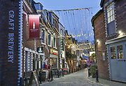 Ashton Lane on the 2nd November 2018 in Glasgow in the United Kingdom. Ashton Lane is a cobbled backstreet in the West End of Glasgow and is noted for its bars, restaurants and a licensed cinema.